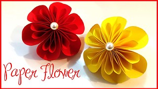 How to make a beautiful paper flower - Video