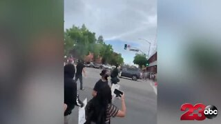 CAUGHT ON VIDEO: Car speeds through crowd during George Floyd protest