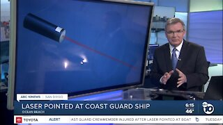 Coast Guard crewmember injured after laser pointed at boat off San Diego coast