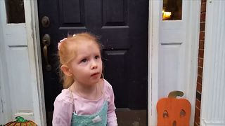 Toddler's Hilarious Answer To Halloween - Video