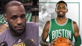 LeBron James RESPONDS to Kyrie Irving-Isaiah Thomas Trade - Video