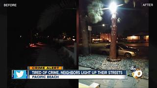 Tired of crime, neighbors light up their streets