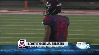 UA freshman football player arrested in domestic violence incident - Video