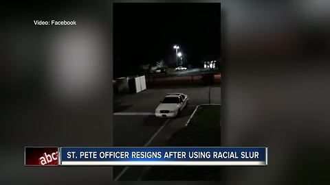 St. Pete officer resigns after caught on video using racial slur, police say