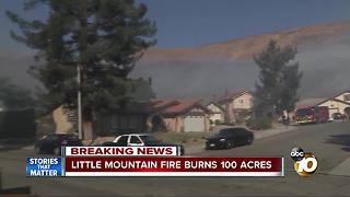 Three injured in 100-acre Little Mountain Fire - Video