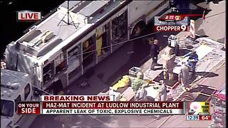 Chopper 9 exclusive video from hazmat leak in Ludlow, Kentucvky - Video