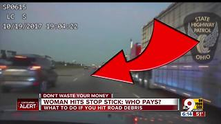 Innocent driver hits stop stick: Who pays? - Video