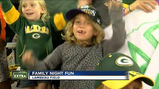 Packers Family Night draws young fans - Video