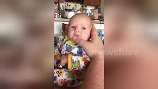 Dad turns his baby into opera singer - Video