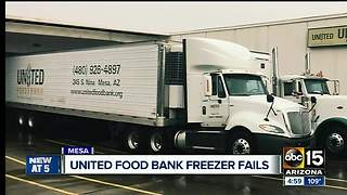 Unified Food Bank in need of donations after freezer breaks - Video