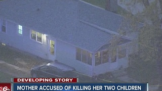 Mother accused of killing her two children - Video