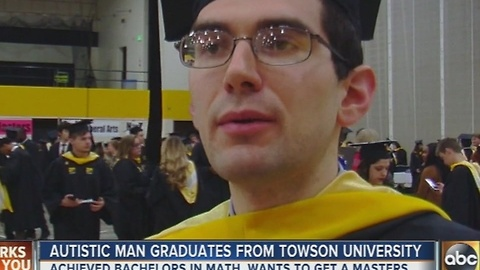 Man with autism graduates from Towson University