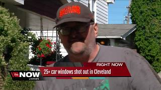 25+ car windows shot out in Cleveland overnight - Video