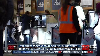 TSA marks today as start of busy holiday travel season