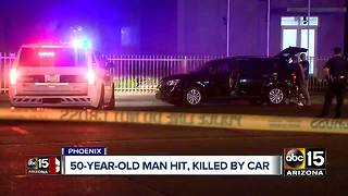 Pedestrian struck and killed Friday night in Phoenix - Video