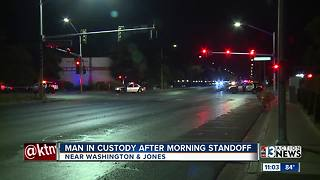 Man in custody after morning standoff