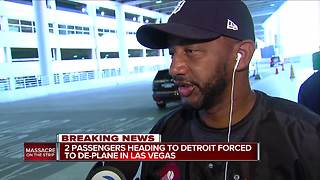 Passengers headed to Detroit from Las Vegas
