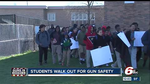 Local students walk out of class to protest gun violence