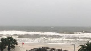 Hurricane Nate Brings Rain, Rough Surf to Alabama Coast - Video