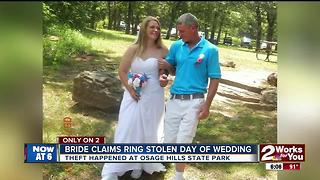 Bride claims wedding ring was stolen on her wedding day - Video