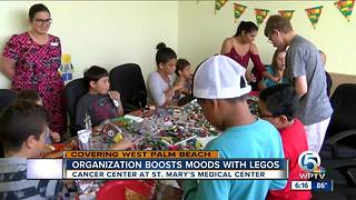 Organization boosts moods of kids battling cancer with Lego toy party - Video