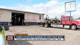 Tampa Police file charges in chop shop bust - Video