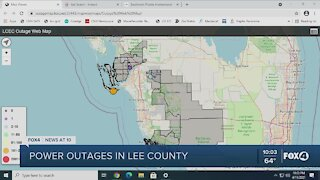 Lee County power outage update