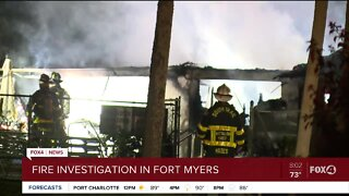 Fire investigation in South Fort Myers