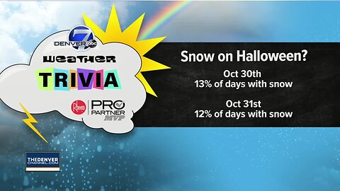 Weather trivia: How often does it snow on Halloween?
