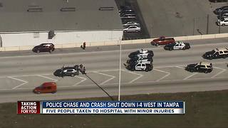 Police activity blocks lanes on I-4 in Tampa - Video