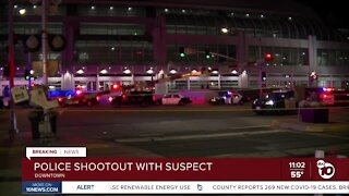 Suspect opens fire during downtown traffic stop, Harbor Police say