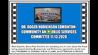 DR. HODKINSON SPEAKING OUT AGAINST GREATEST HOAX EVER PERPETRATED AGAINS AN UNSUSPECTING PUBLIC
