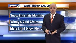 Snow ends Saturday morning - Video