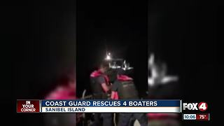 Coast Guard Rescues 4 Boaters - Video