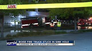 Water main break causes sinkhole at Boise State University - Video