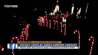Irma damage cancels holiday tradition at Sarasota Jungle Gardens - Video