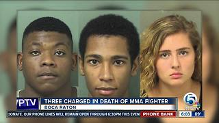 Teen girl, 2 men charged in MMA fighter's homicide - Video