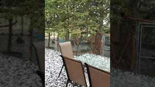 Summer Hail Storm Batters Prineville in Central Oregon - Video