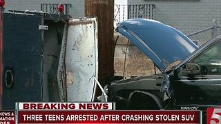 Joyride Ends In Crash For Female Juveniles - Video