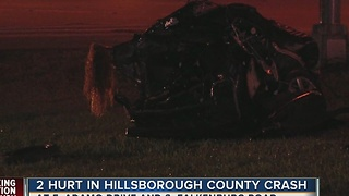 2 seriously injured in Hillsborough County crash