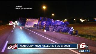 Semi driver killed in crash with INDOT vehicle on I-65 near Seymour - Video