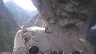 GoPro Footage From Motorbike Journey on World's Most Dangerous Road - Video