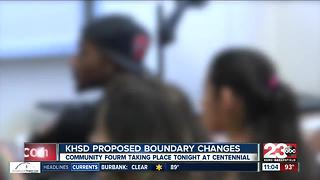 Kern High School District holds public forum Monday to discuss proposed boundary changes - Video