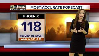 Another record-breaking day ahead in Phoenix - Video