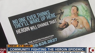 Community uses education to help fight heroin epidemic - Video