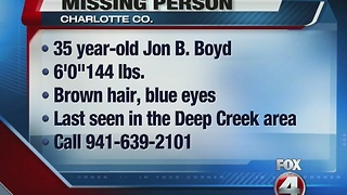 MISSING: Jon Boyd - Video