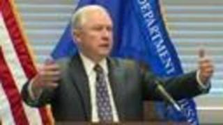 U.S. Attorney General Jeff Sessions speaks in Las Vegas about illegal immigration and crime - Video