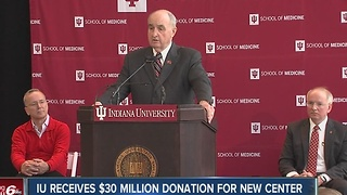 Indiana University receives $30 million donation for new blood cancer center - Video