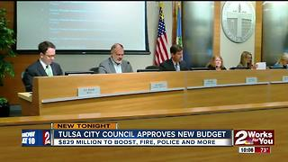 Tulsa city council approves new budget - Video