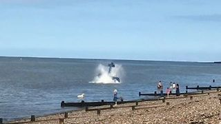 Plane Ditches Into Sea During Airshow in Kent - Video